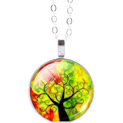 autumn colors black tree necklace-01