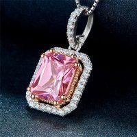 pink cz necklace image 01